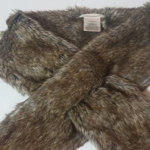 BCBGeneration Pull Through Faux Fur Scarf